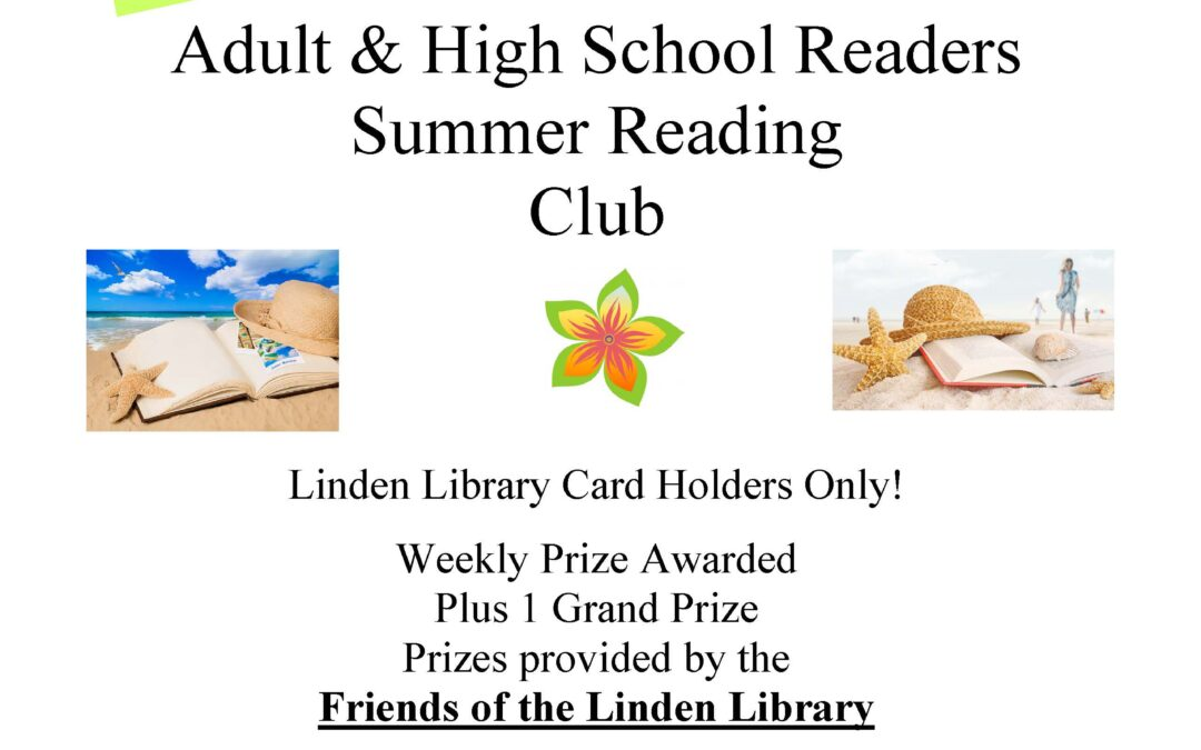 Join The Adult & High School Readers Summer Reading Club
